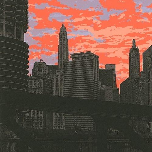 A morning scene from Clark Street Bridge.
