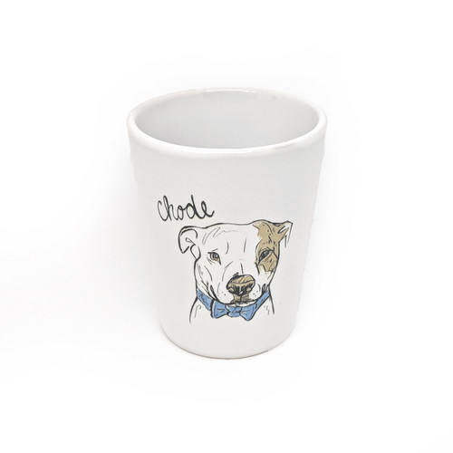 This shot glass holds two ounces, so watch out! You may be cursin' like a bully mix than you realize.