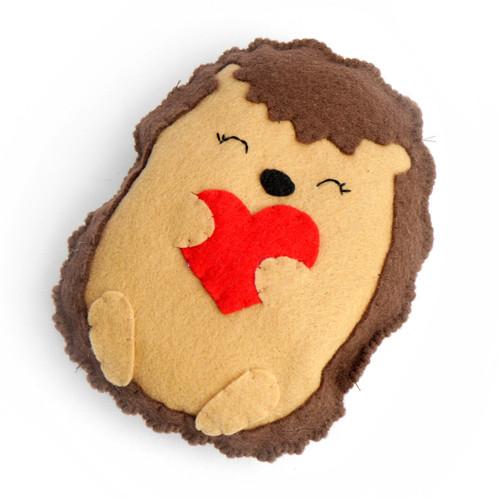 Hedgehog with Heart Stuffed Animal