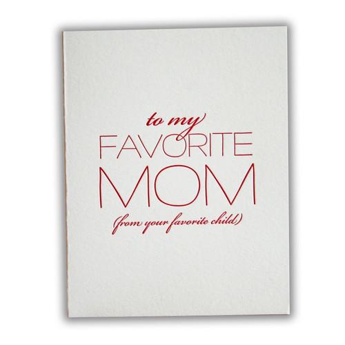 Favorite Mom Card