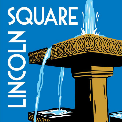 The ornamentation on Lincoln Square's bronze, multi-tiered fountain was inspired by the work of architect Louis Sullivan.