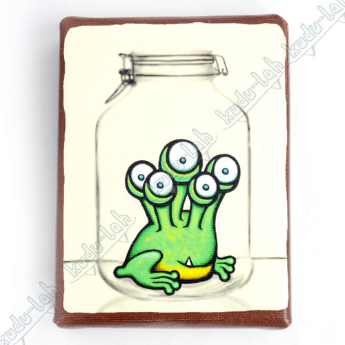 Hip Hop Mason Jar Critter Print On Canvas