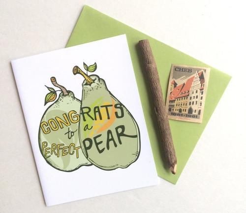 Perfect Pear Wedding Card
