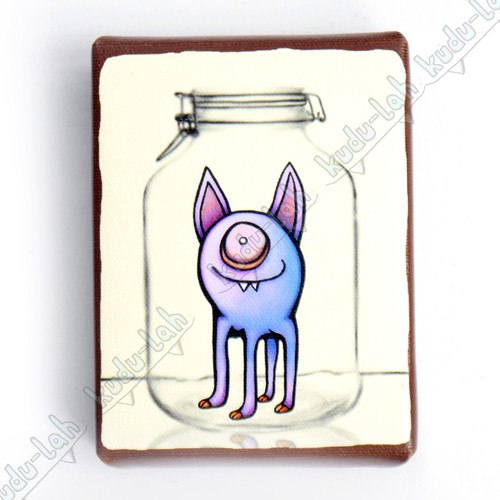 Wixel Mason Jar Critter Print On Canvas