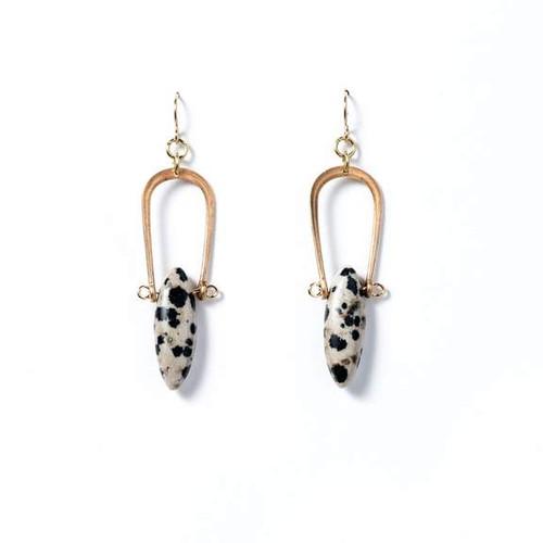 Dalmatian Jasper Amulet Earrings