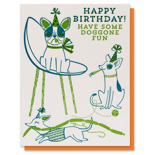 Doggone Fun Birthday Card