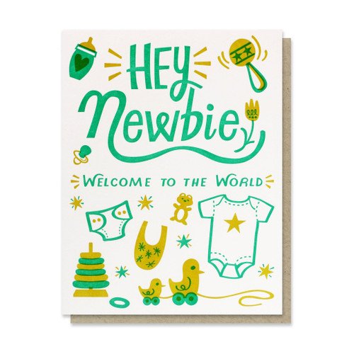 Hey Newbie Baby Card