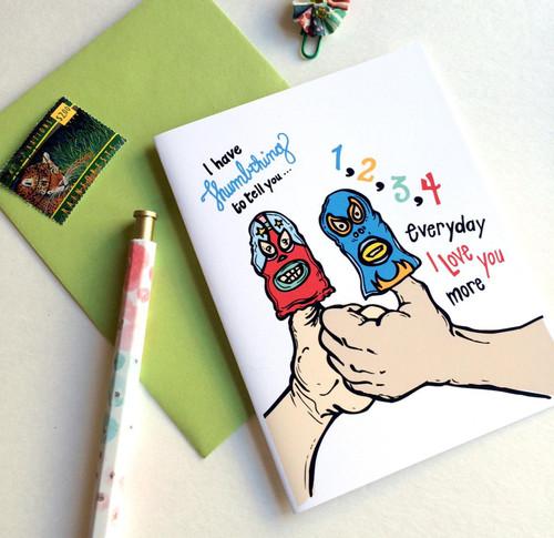 Thumbthing Valentine's card