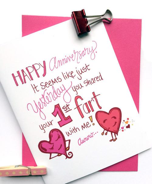 Farts Anniversary Card