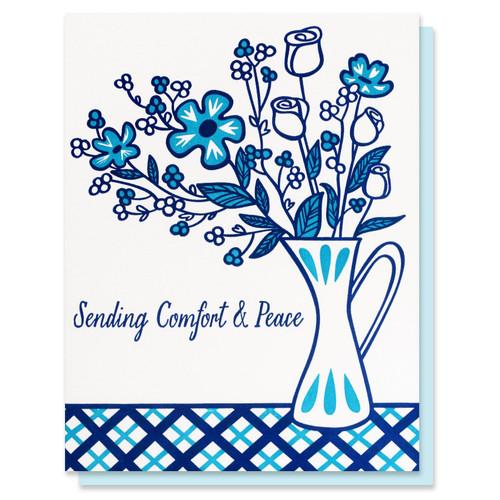 Blue Florals Sympathy Card