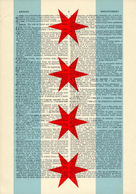 D178 Chi Flag dictionary print