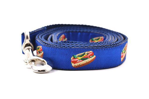 Hot Dog Leash Blue - Large