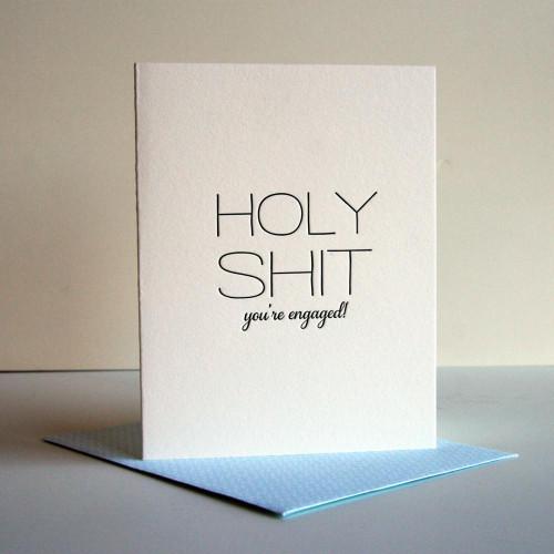Holy Shit - Engaged card