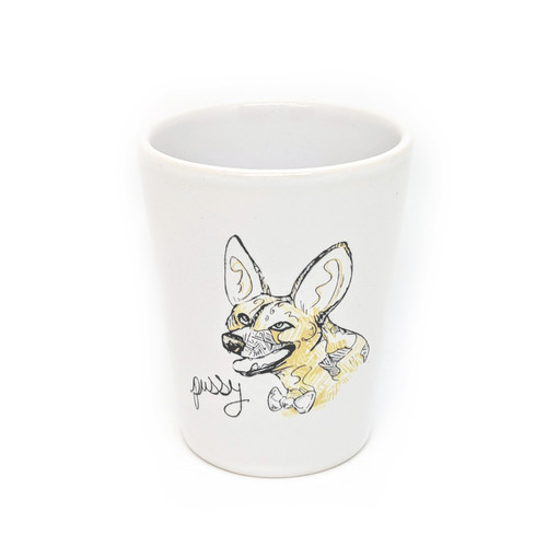 This shot glass holds two ounces, so watch out! You may be cursin' like an African Wild Dog faster than you realize.