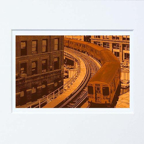 This is my second edition of brown line print created with different set of colors.