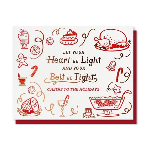 Heart Light Belt Tight Card