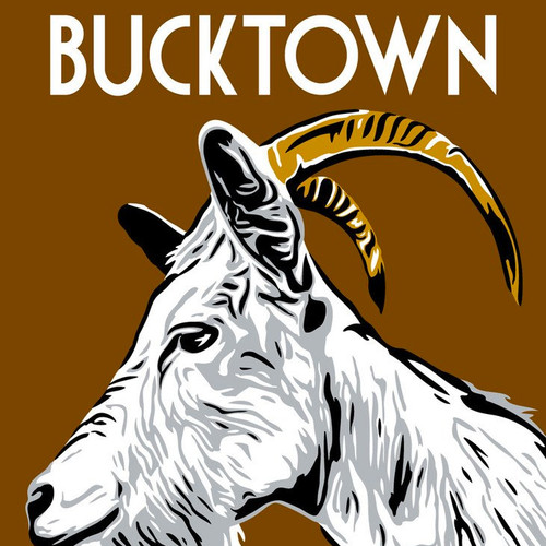 Bucktown is believed to be named for the goats, the males are called bucks, raised in the area by early 19th century settlers.