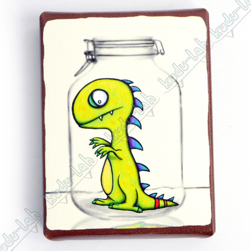 Tarley Mason Jar Critter Print On Canvas