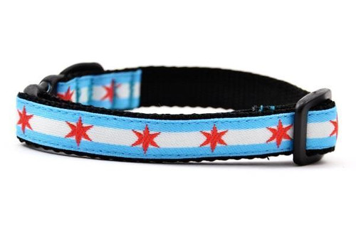 Breakaway Chicago Flag Cat Collar