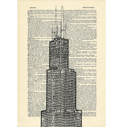 D012 Sears Tower Dictionary Print