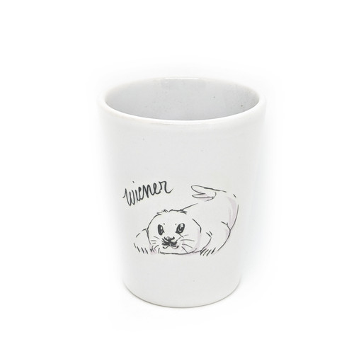 This shot glass holds two ounces, so watch out! You may be cursin' like a baby seal faster than you realize.