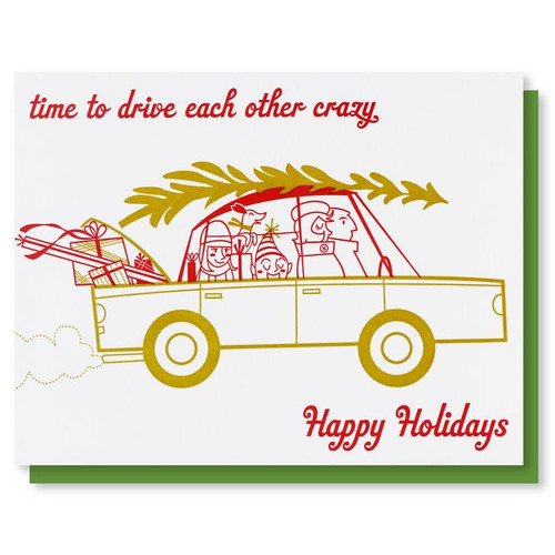 Drive Crazy Holiday Card