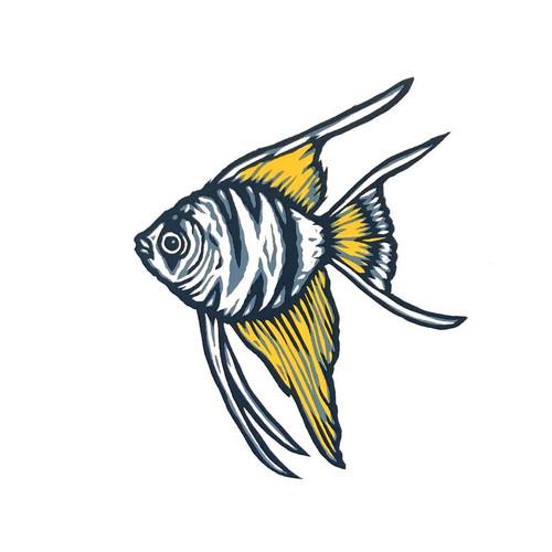 Angel Fish Print