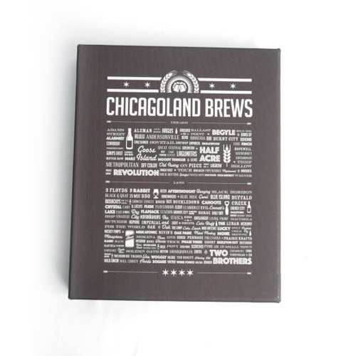 Chicagoland Brews 8x10 Wood Block Canvas Print