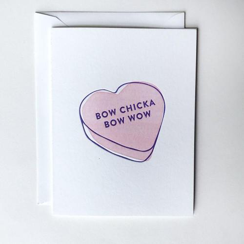 Bow Chicka Heart Card