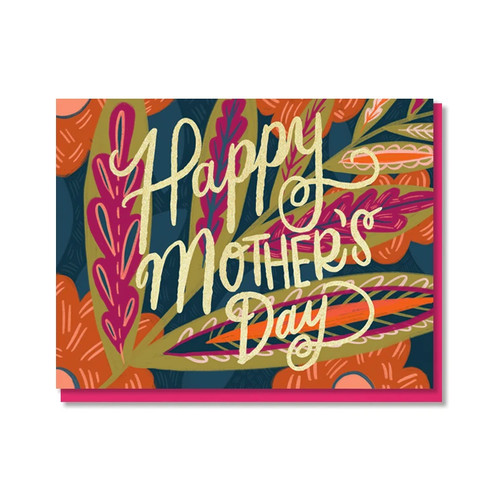 Leaves And Blooms Mother's Day Card