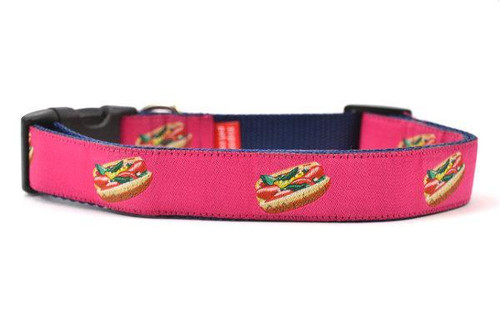 Hot Dog Collar Pink - Large 16-26""