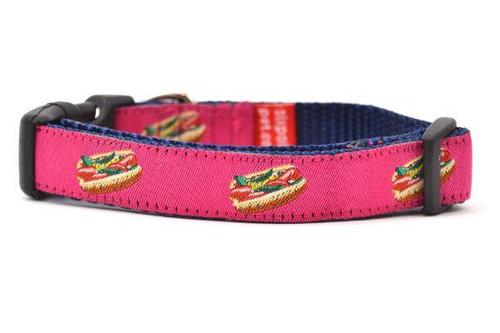 "Hot Dog Collar Pink - XS 9-14"""