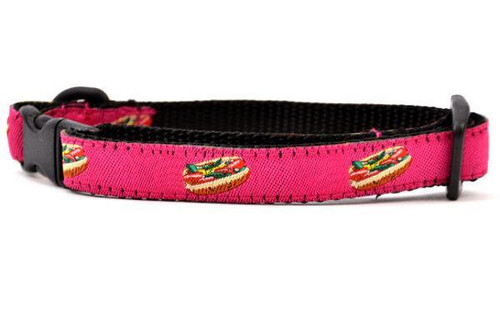 Hot Dog Collar Pink - XXS 7-11""