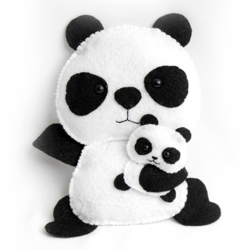 Panda With Cub Stuffed Animal