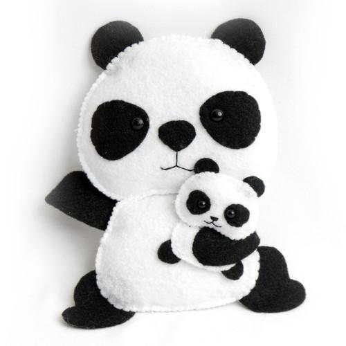 Panda With Cub Stuffed Animal