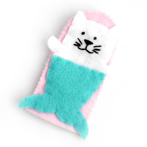 Mermaid Cat Finger Puppet