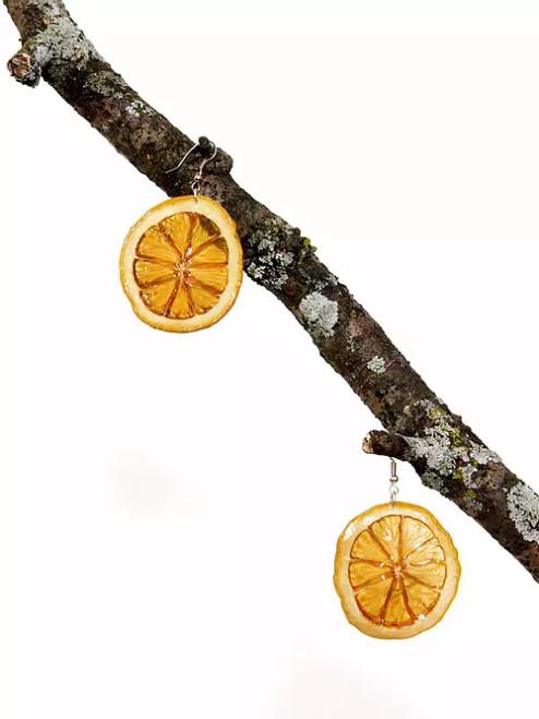 Lemon Slice Earrings - Surgical Steel