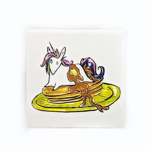 Unicorn Pancake Coaster