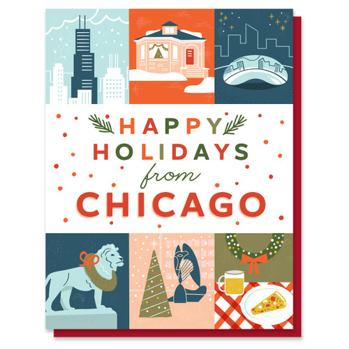 Happy Holidays From Chicago Icon Card