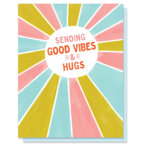 Good Vibes And Hugs Card