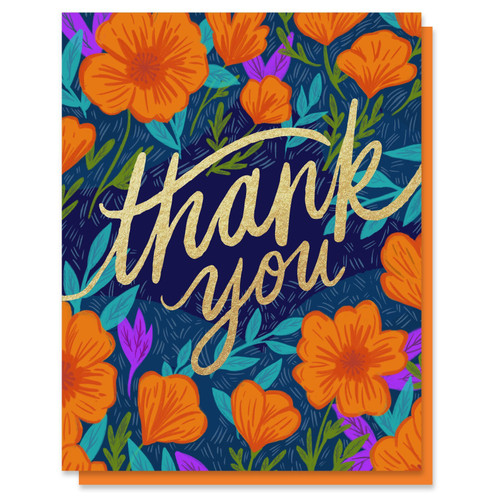Thank You Poppies Card