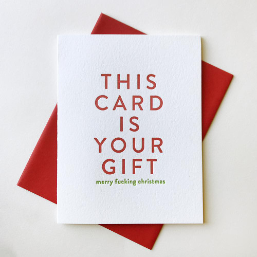Your Gift Christmas Card