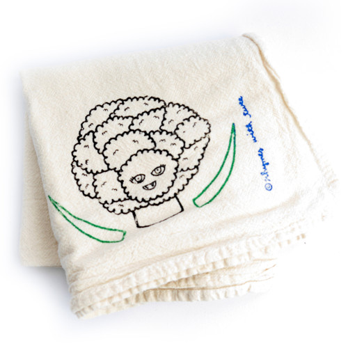 Cauliflower Tea Towel