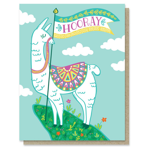 Hooray Llama Card