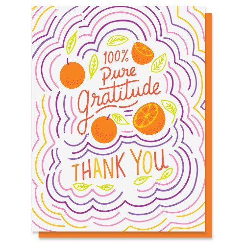 Pure Gratitude Card Thank You Card
