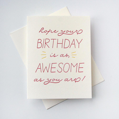 Birthday Awesome Card