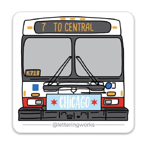 CTA Bus Sticker