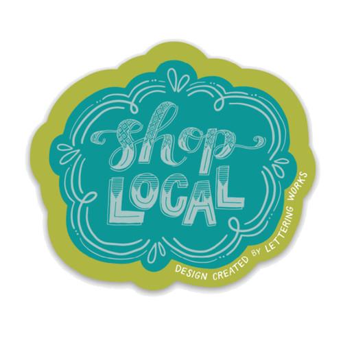 Shop Local Sticker
