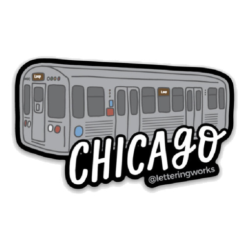 CTA 'L' Train Sticker