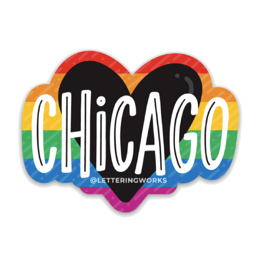 Chicago Heart - Pride Sticker